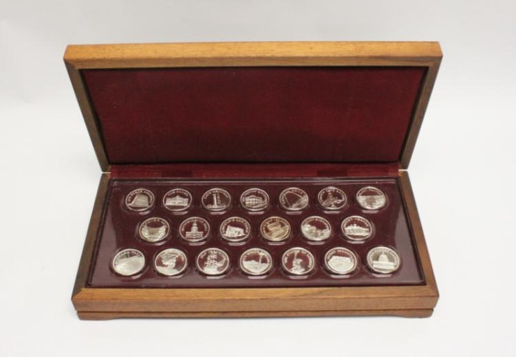 (20)Franklin Mint Sterling American Landmark Coins