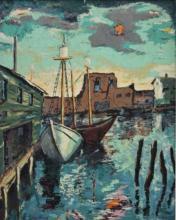 Harry Shoulberg 1903-1995 American, Oil Painting