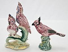 2 Stangl Pottery Figures of Cockatoos & Cardinal