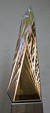 Ray Howlett Infinity Light Pyramid w Stand