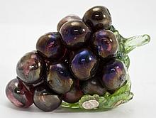 Murano Art Glass Cluster of Purple Grapes