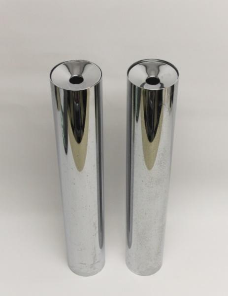 Pair knoll chrome steel floor standing ashtrays for 14 inch chrome floor standing fan