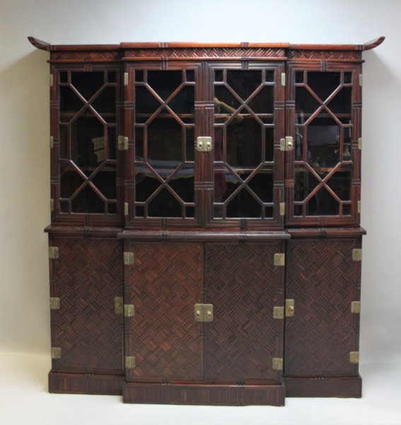 maitland glascoe london bamboo china cabinet. Black Bedroom Furniture Sets. Home Design Ideas