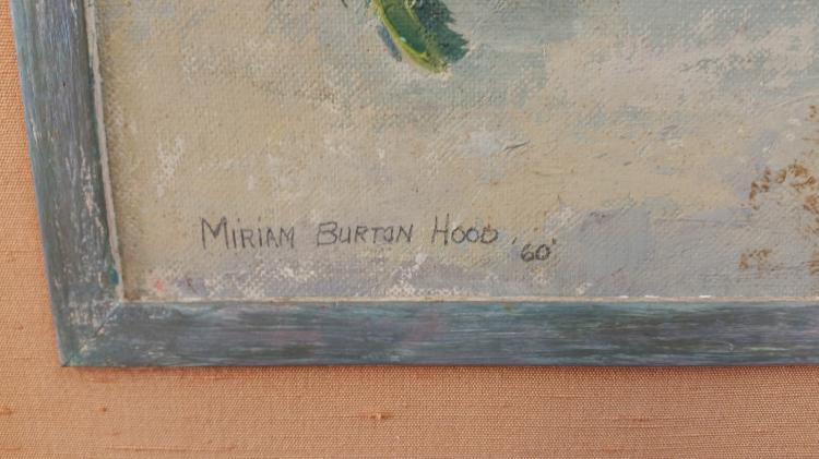 Miriam Burton Hood Oil On Carton Board