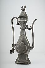 A Chinese Islamic style pewter ewer, Qing dynasty,
