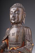 A Chinese Gilt bronze Buddha. Ming dynasty