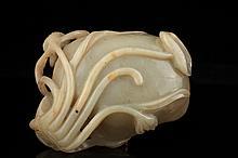 A celadon jade brushwasher, Ming dynasty,