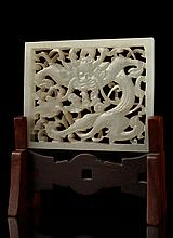 A white jade reticulated panel, 17th/18th century