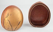 A Japanese lacquer 'peach' box, Meiji,