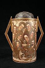 A signed Satsuma vase, Meiji period,
