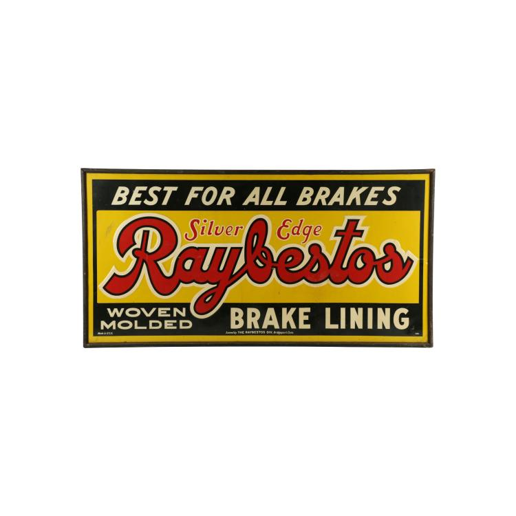 Raybestos Brakes Tin Litho Sign