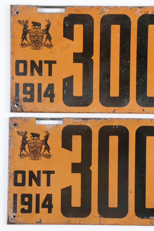 1914 Ontario License Plates