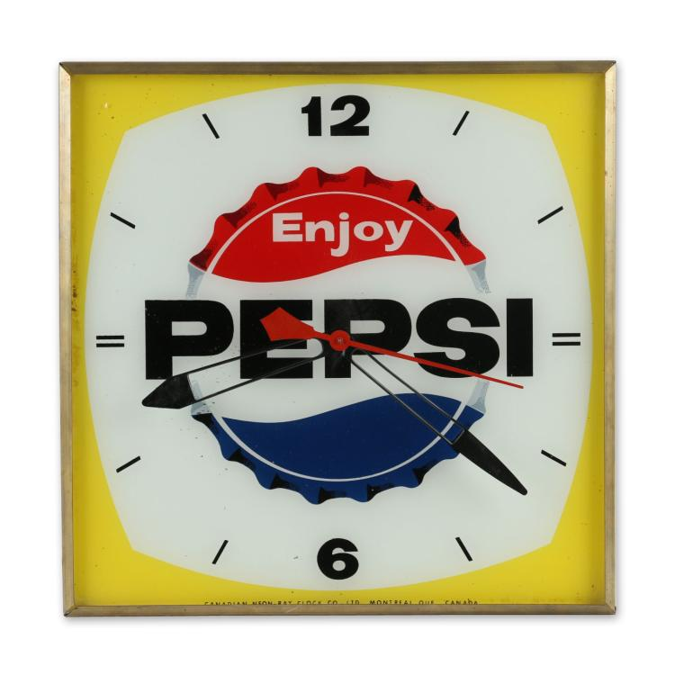 Canadian Pepsi Neon Ray Lighted Wall Clock