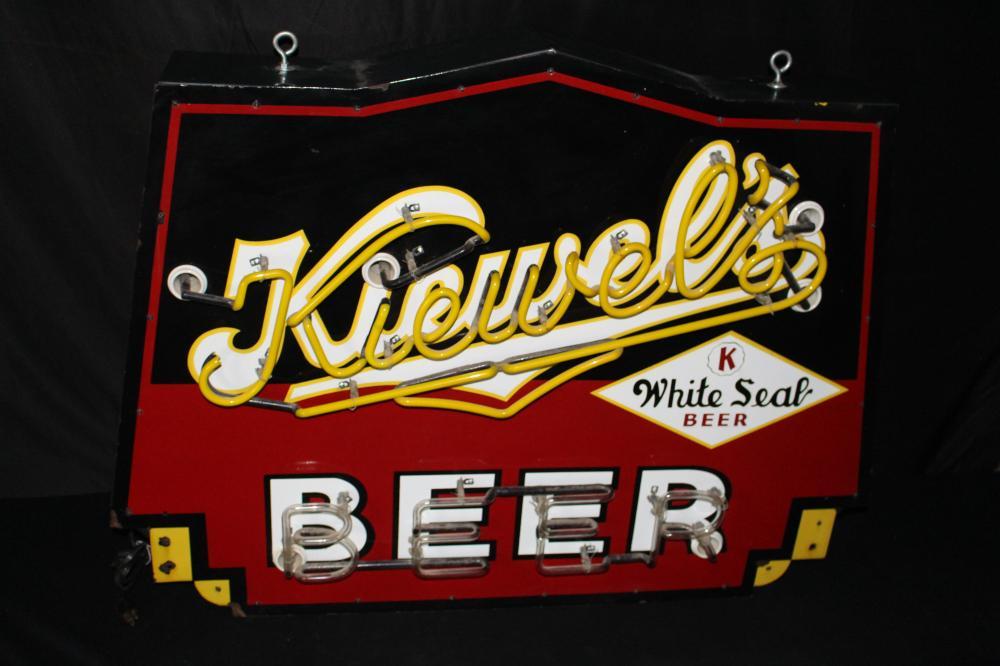 PORCELAIN KIEWELS BEER NEON BEER SIGN