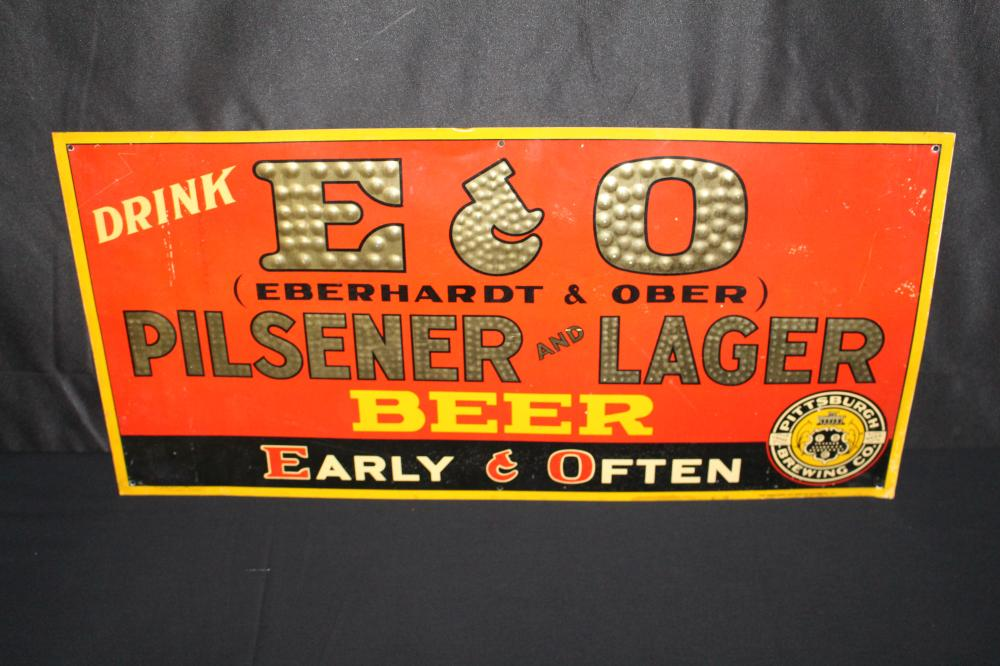 PITTSBURGH BREWING CO E&O BEER TN SIGN