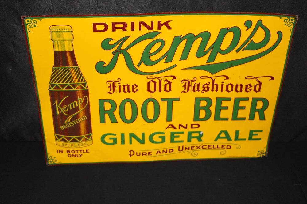 KEMPS OLD FASHIONED ROOT BEER GINGER ALE SIGN