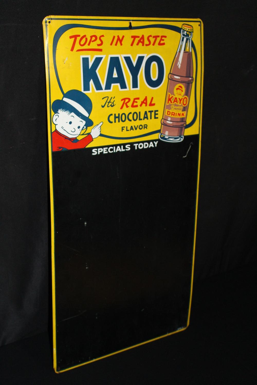 KAYO CHOCOLATE DRINK BLACKBOARD SODA POP SIGN