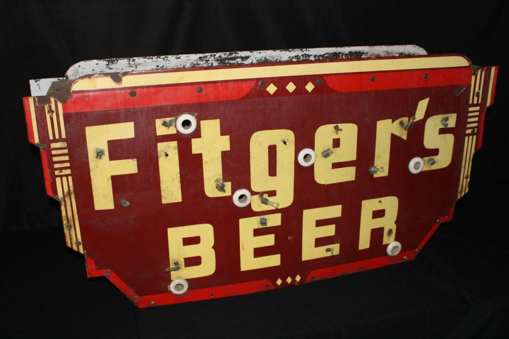 PORCELAIN FITGERS BEER DULUTH MN NEON SIGN