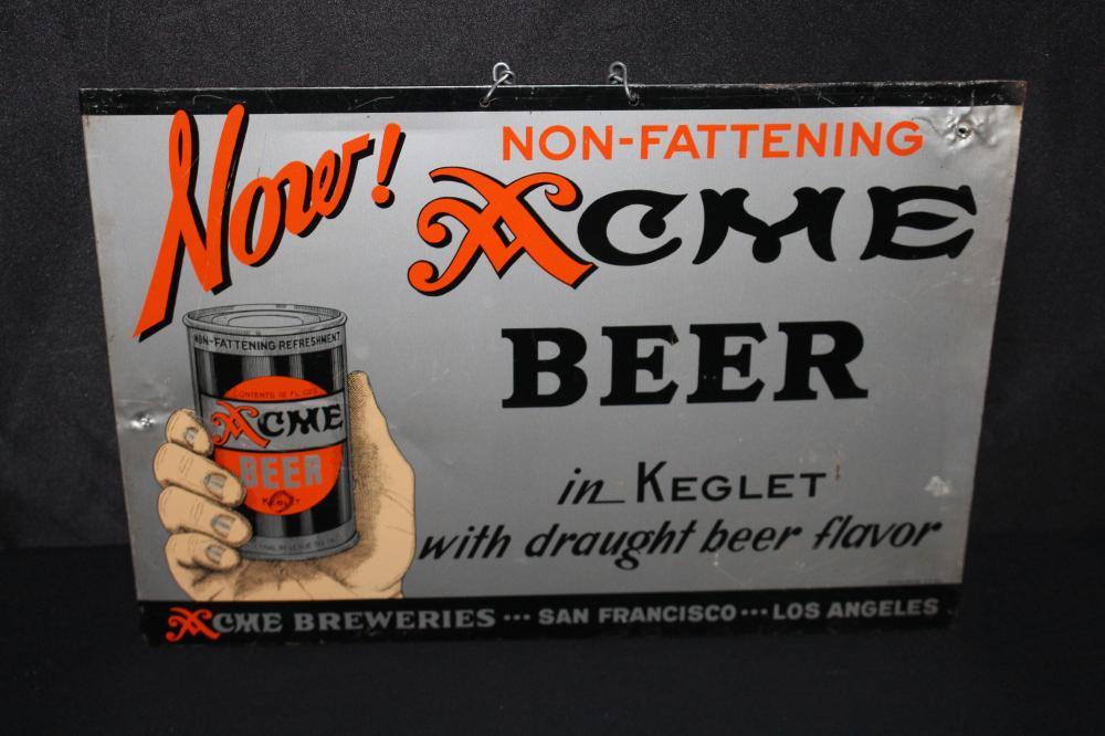 ACME KEGLET BEER BEER CAN SIGN