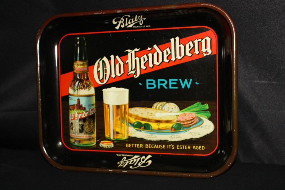 BLATZ OLD HEIDELBERG BREW BEER TRAY MILWAUKEE