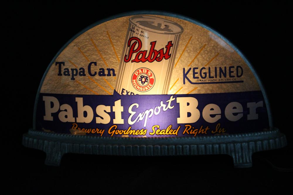 GILLCO PABST BLUE RIBBON TAP A CAN BEER SIGN