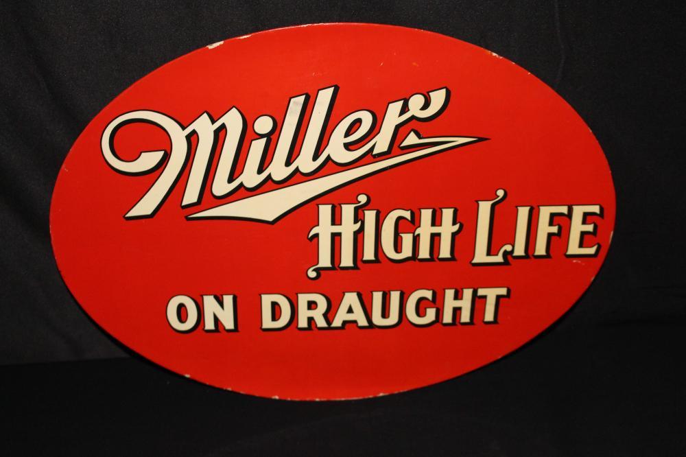 RARE CRYSTALOID MILLER HIGH LIFE BEER SIGN