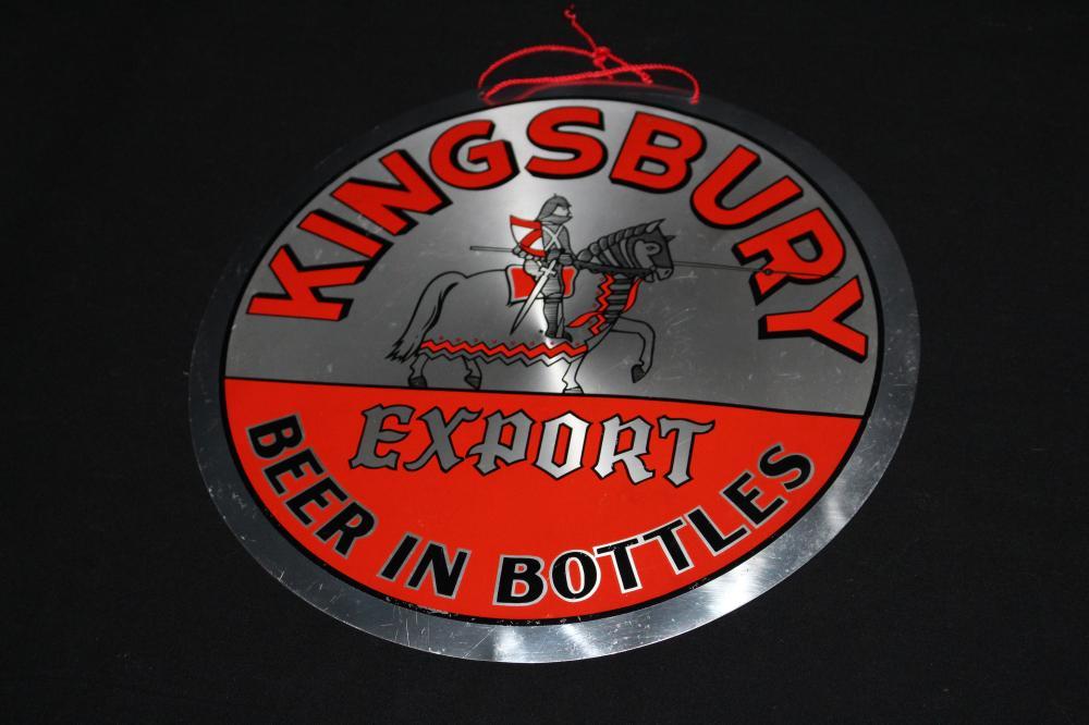 LEYSE KINGSBURY EXPORT BEER IN BOTTLE SIGN