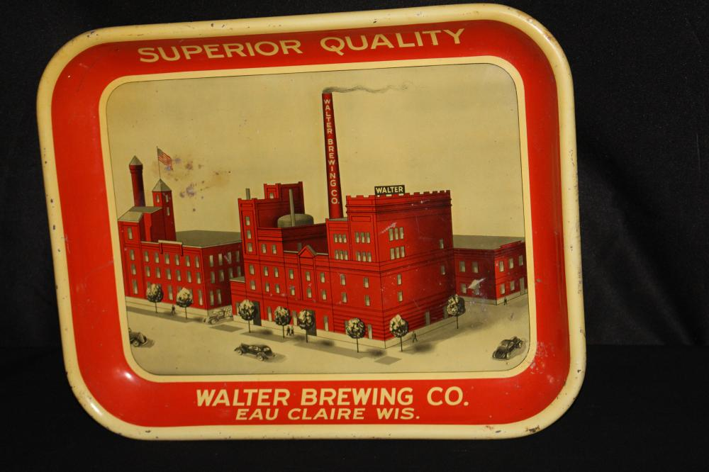 WALTER BREWING CO EAU CLAIRE WI BEER TRAY