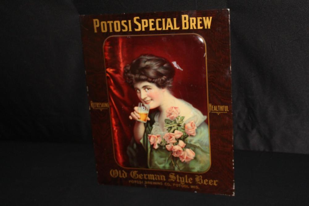 POTOSI SPECIAL BREW GERMAN STYLE BEER TIN SIGN