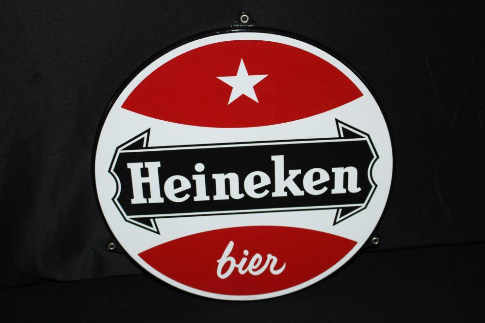 PORCELAIN HEINEKEN BIER BEER SIGN