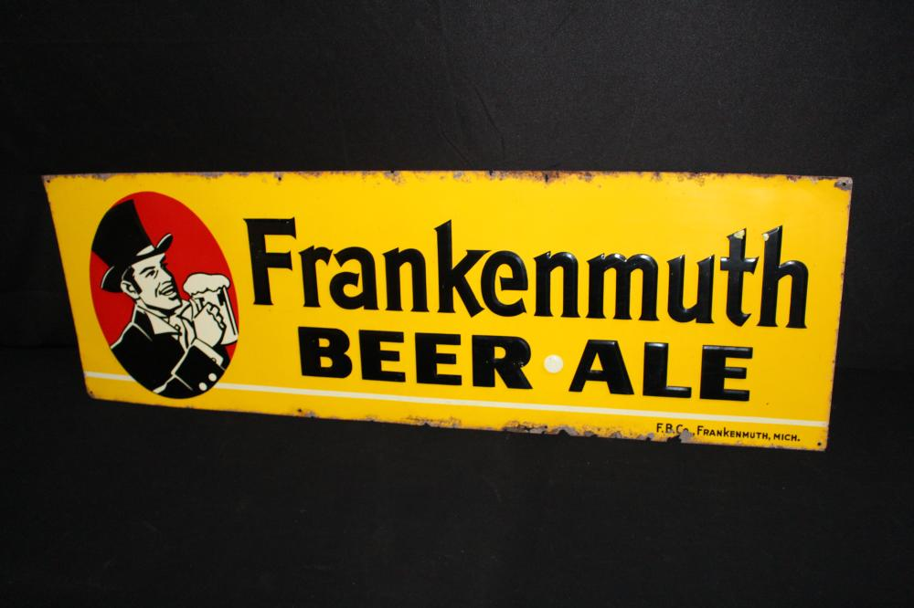 FRANKENMUTH BEER & ALE MICHIGAN TIN SIGN