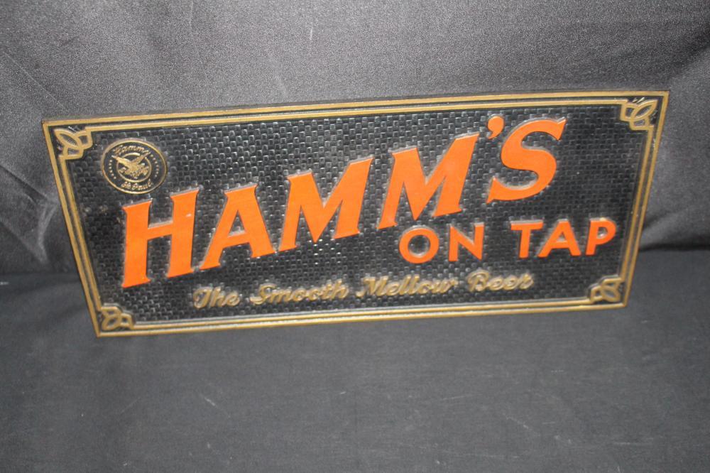 HAMMS BEER ON TAP FIBER BOARD SIGN