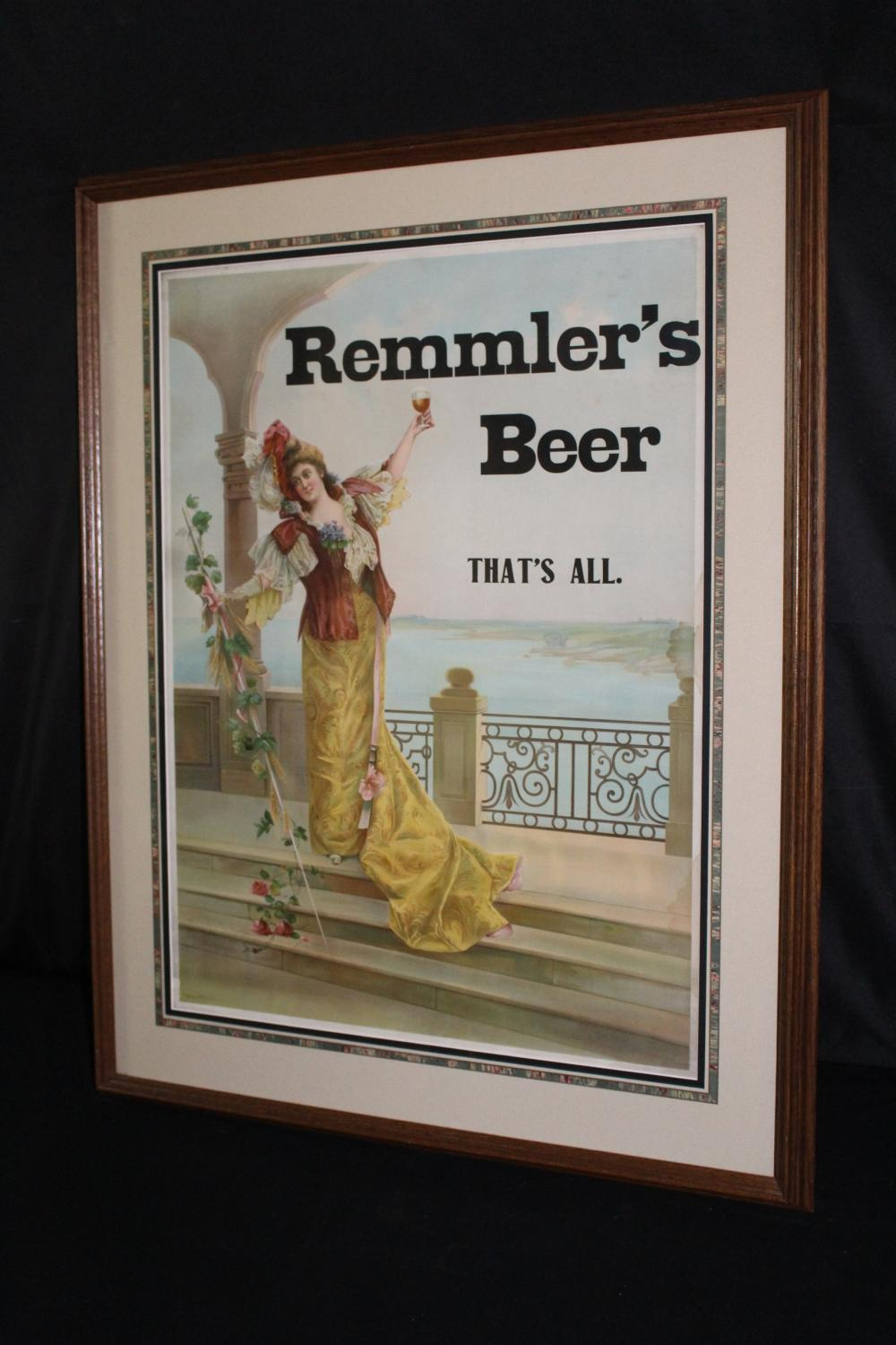 PRE PRO REMMLERS BEER RED WING MN LITHO SIGN