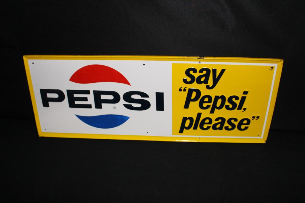 SAY PEPSI PLEASE SODA POP SIGN