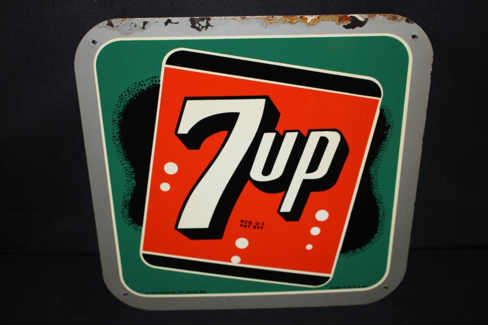 7-UP SEVEN UP 7 UP SODA POP SIGN