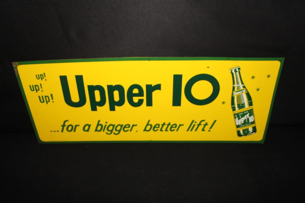 UPPER 10 SODA POP TIN SIGN