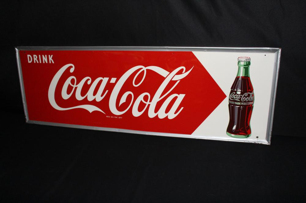 DRINK COCA COLA SODA POP TIN SIGN