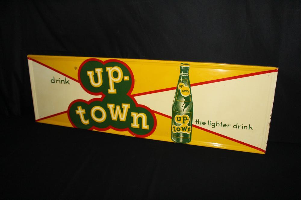 DRINK UPTOWN SODA POP TIN SIGN