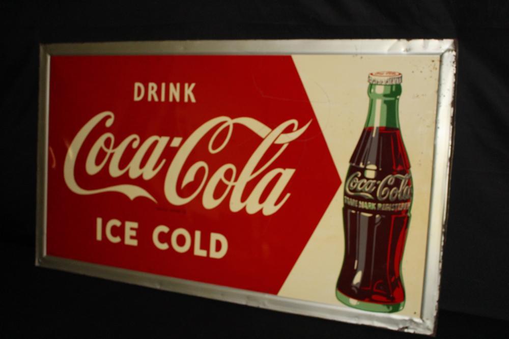 DRINK ICE COLD COCA COLA SODA POP SIGN