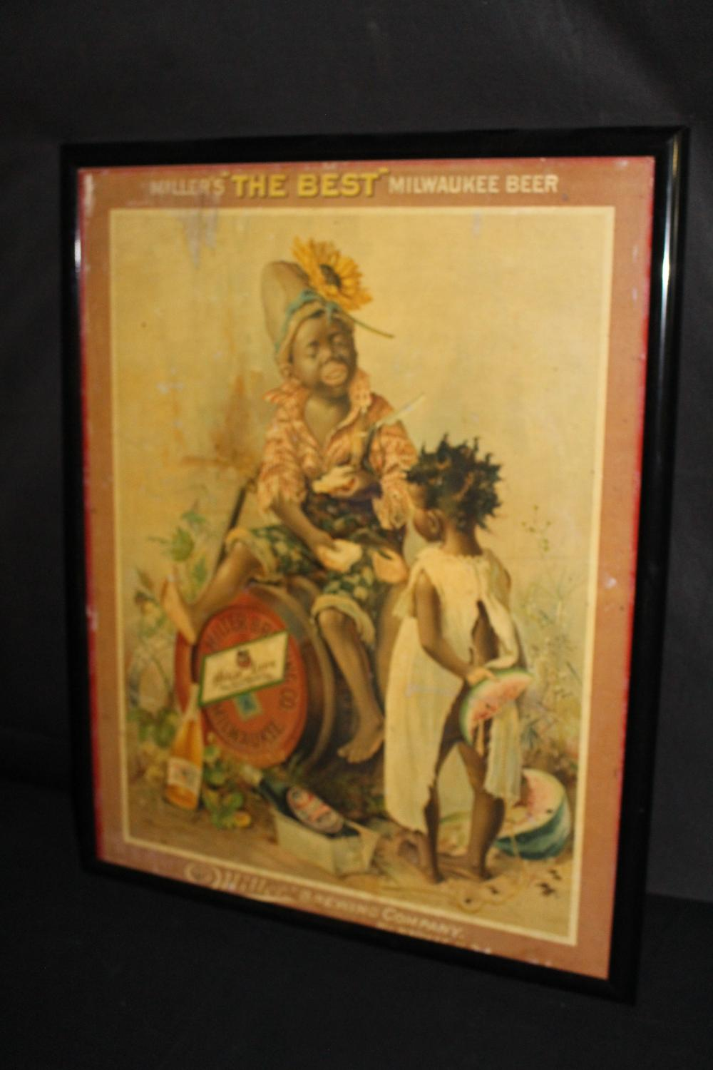 PRE PRO THE FRED MILLER BREWING LITHO SIGN