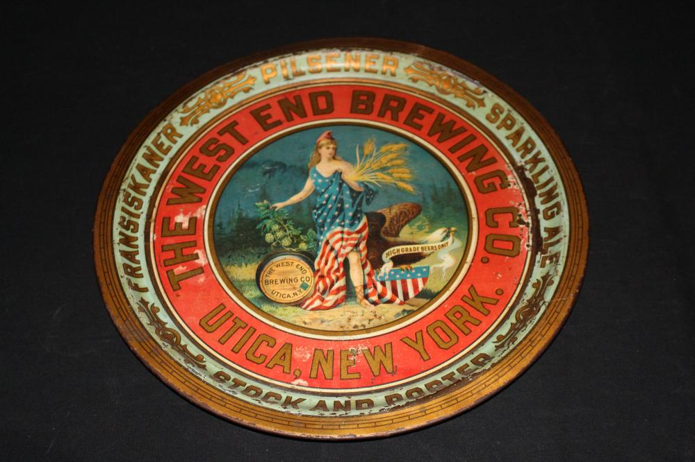 PRE PRO WEST END BREWING CO UTICA NY BEER TRAY