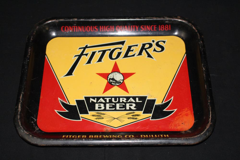 FITGERS NATURAL BEER TRAY DULUTH MINNESOTA MN
