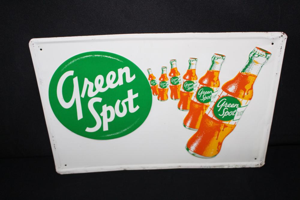 GREEN SPOT ORANGE SODA POP SIGN