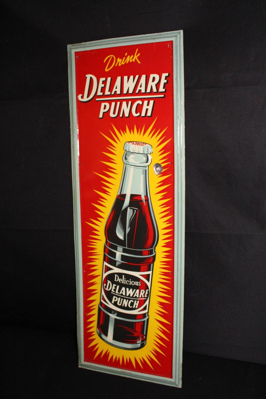 DRINK DELAWARE PUNCH SODA POP SIGN