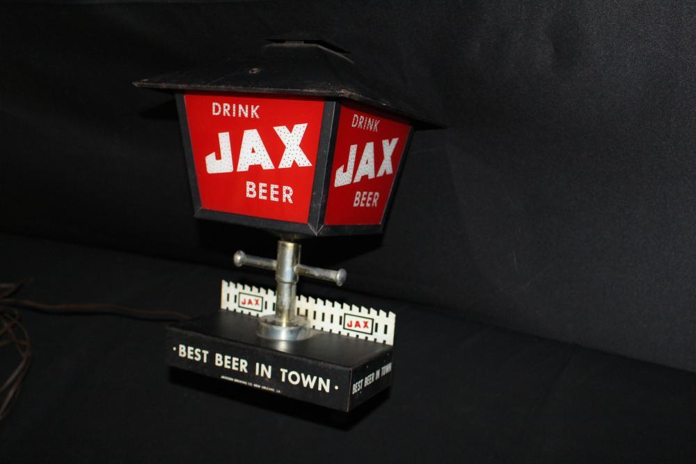 JAX BEER NEW ORLEANS LIGHTED BEER SIGN