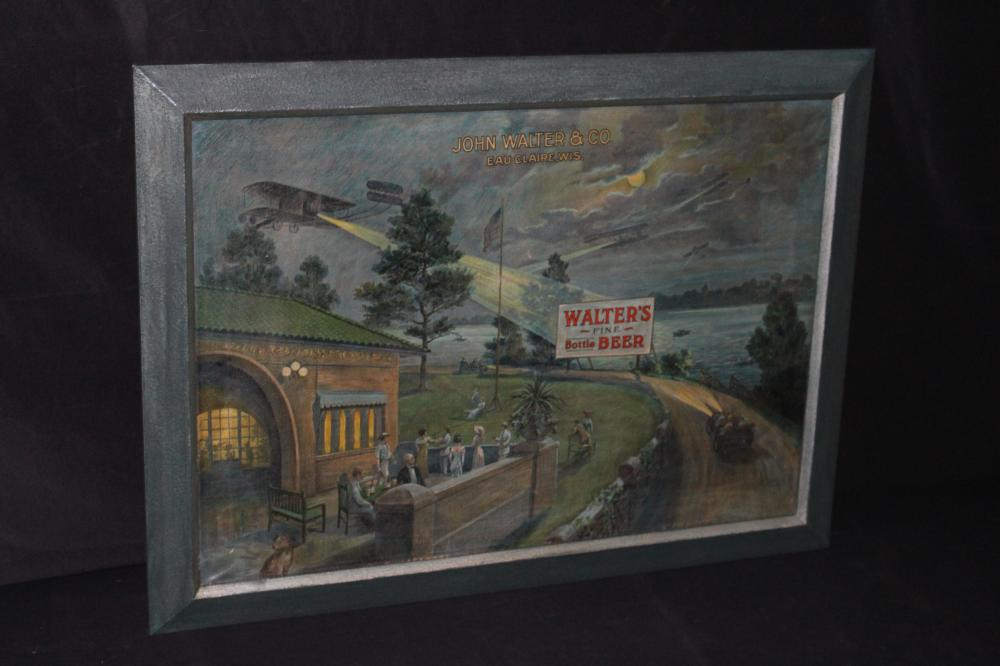 JOHN WALTERS BOTTLED BEER EAU CLAIRE WI SIGN