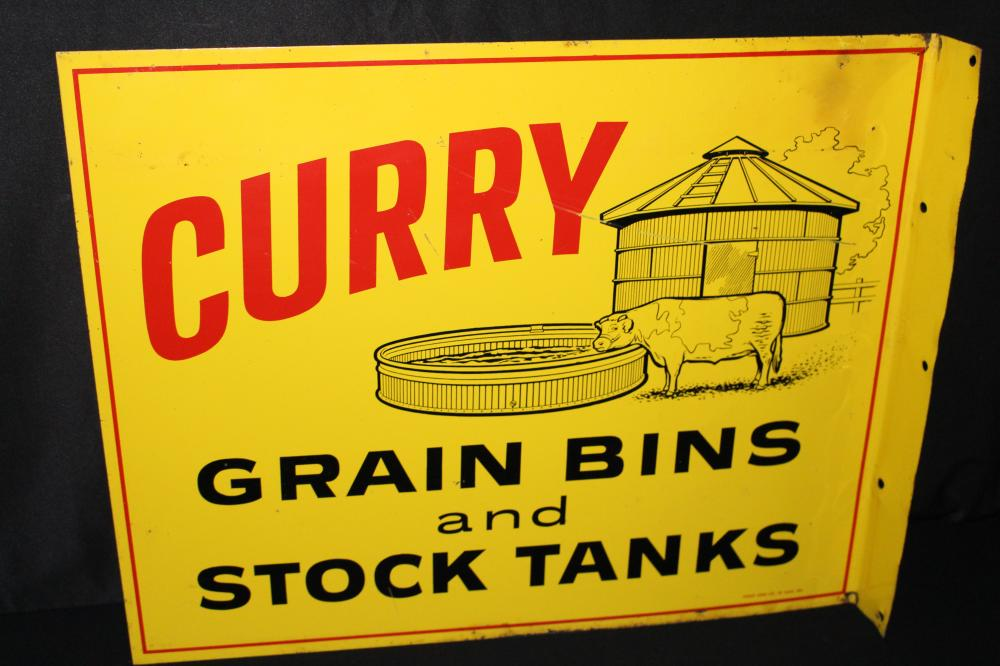 CURRY GRAIN BINS & STORAGE TANKS FARM FLANGE SIGN