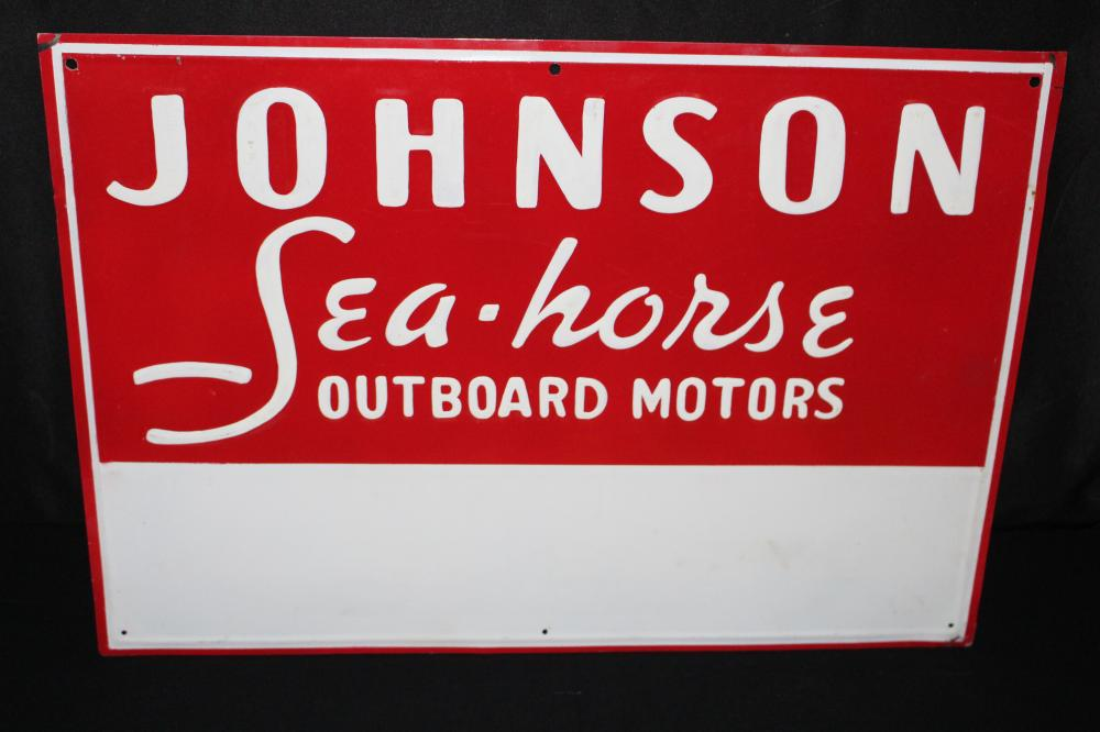 JOHNSON SEA HORSE OUTBOARD MOTOR SIGN