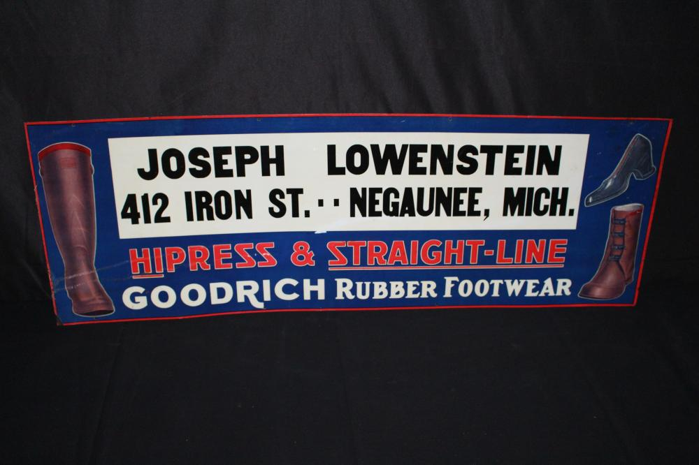 GOODRICH RUBBER FOOTWEAR SIGN NEGAUNEE MI MICH