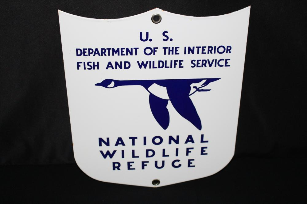 NOS PORCELAIN NATIONAL WILDLIFE REFUGE SIGN